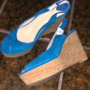 Nine West wedge Brand New size 8 Cobalt Blue